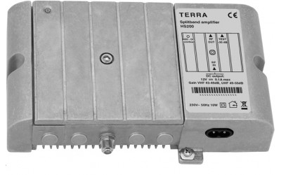 TERRA High-power amplifiers with  splitband, series HS200