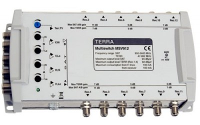 Multi-switches with remote power supply TERRA MSV908, MSV912, MSV916