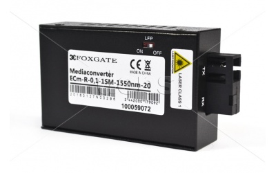 Мiнi медіаконвертери FoxGate ECm-R-0,1-1SM-1310/1550nm-20
