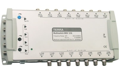 Remotely energized TERRA multiswitches TERRA MV508, MV512, MV516
