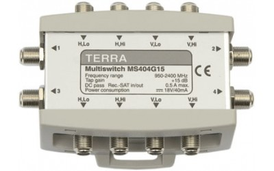 Cascadable TERRA multiswitches MS404