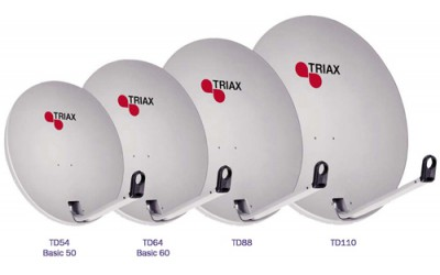 Satellite offset antennas TRIAX