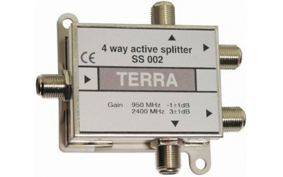 Four-channel active signal splitter Terra SS002