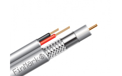 Subscriber's coaxial cable FinMark, series 59 with additional power conductors
