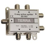 Six-channel active signal splitter Terra SS003