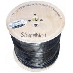 Ethernet cable Step4Net UTP CAT5e 2P 0,51mm CCA ,outdoor,self-supporting