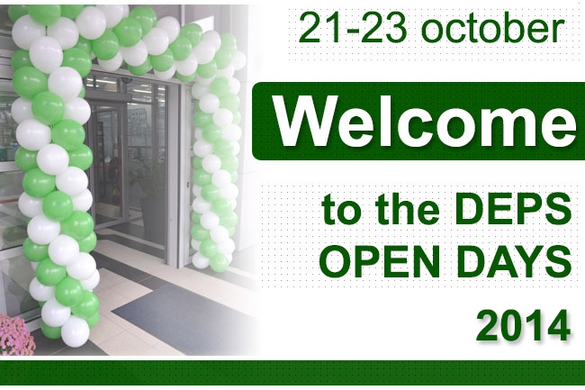 Welcome to the DEPS OPEN DAYS-2014